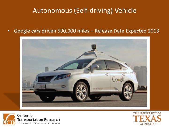 Autonomous (Self-driving) Vehicle