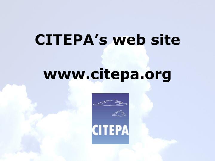 CITEPA's web site