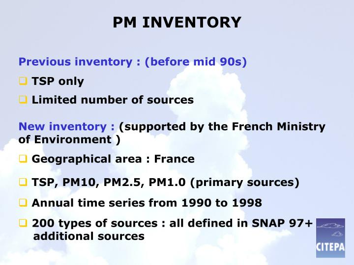 Pm inventory
