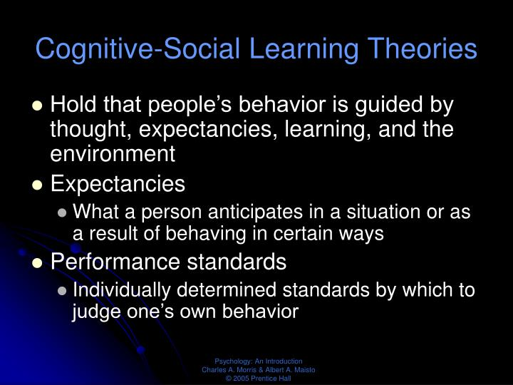 Cognitive-Social Learning Theories