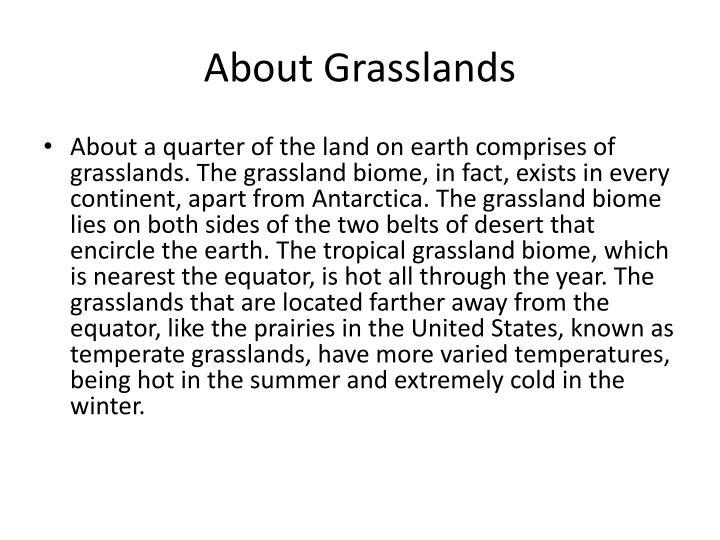 About grasslands