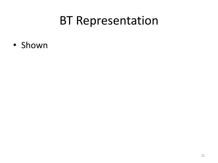 BT Representation