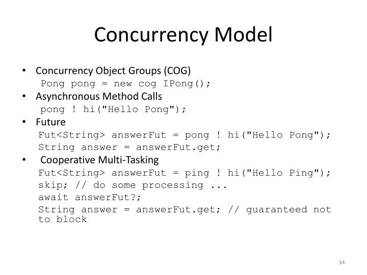 Concurrency Model