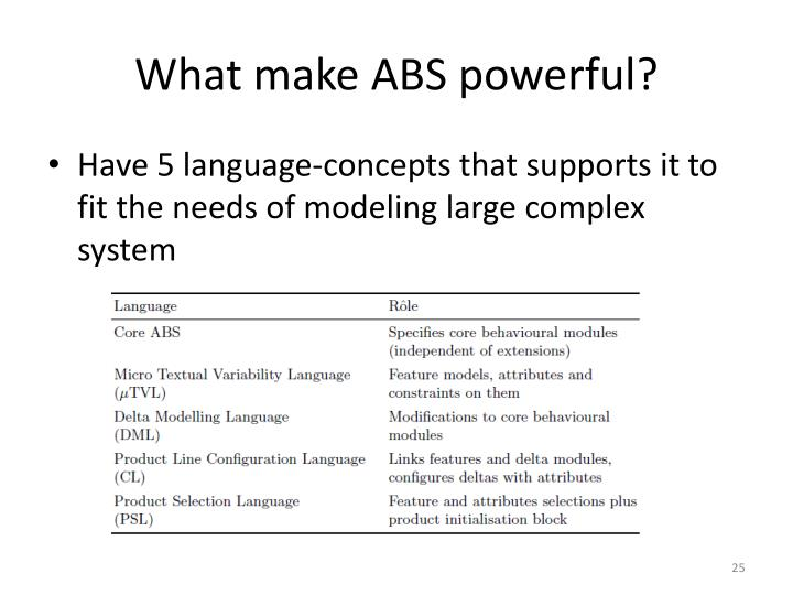 What make ABS powerful?