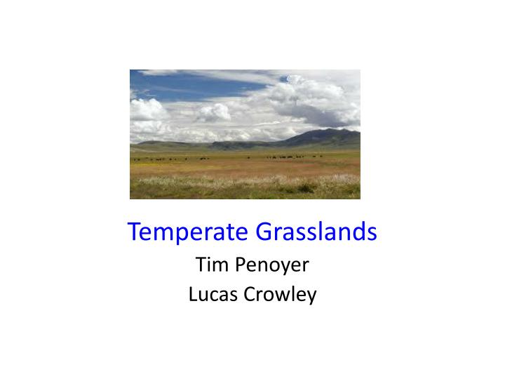 temperate grasslands tim penoyer lucas crowley n.