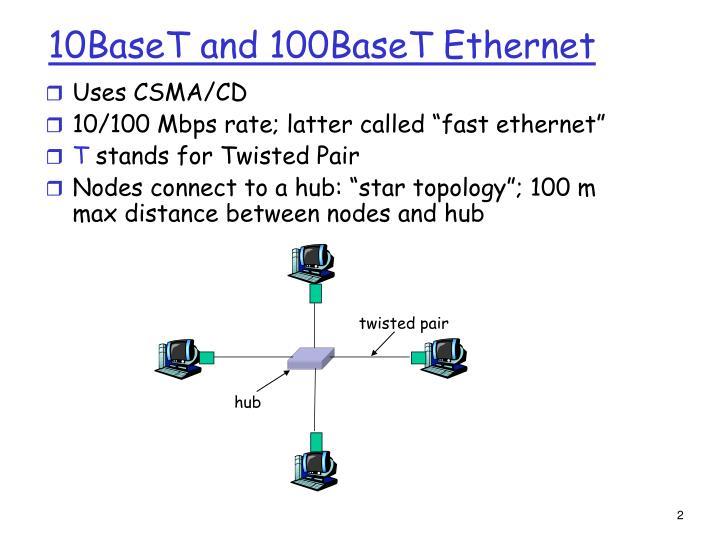 10baset and 100baset ethernet