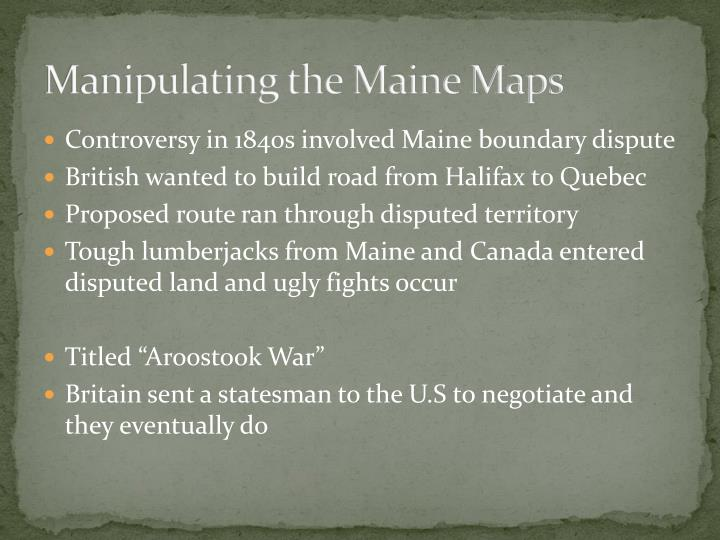 Manipulating the Maine Maps
