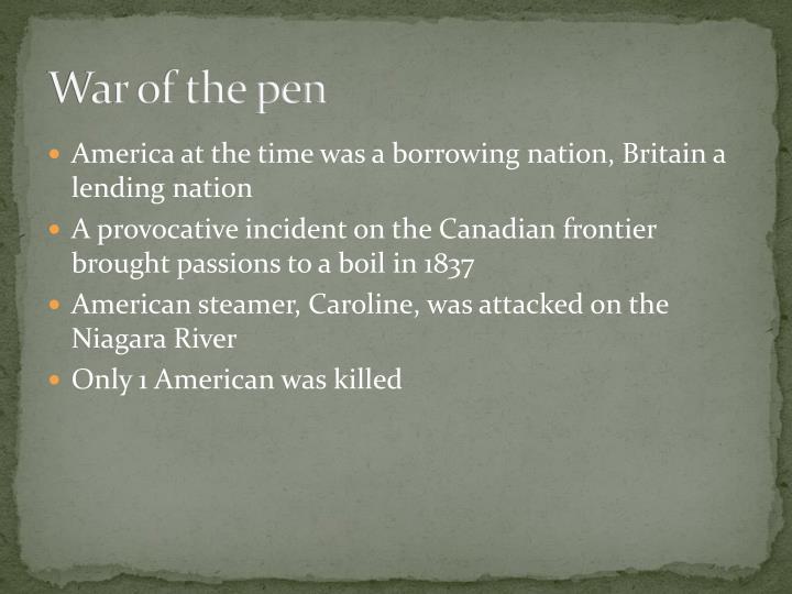 War of the pen