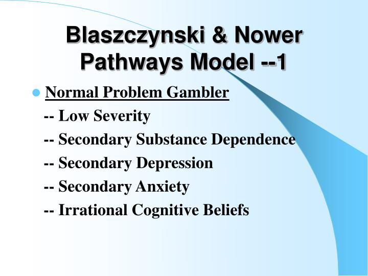 Blaszczynski & Nower Pathways Model --1