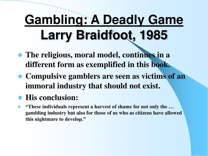Gambling: A Deadly Game
