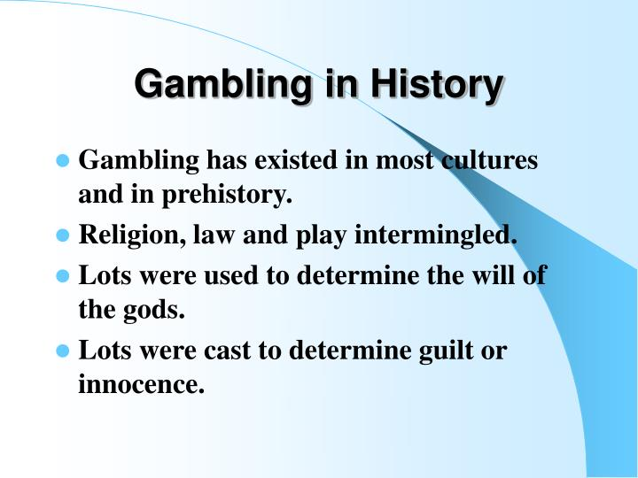 Gambling in history