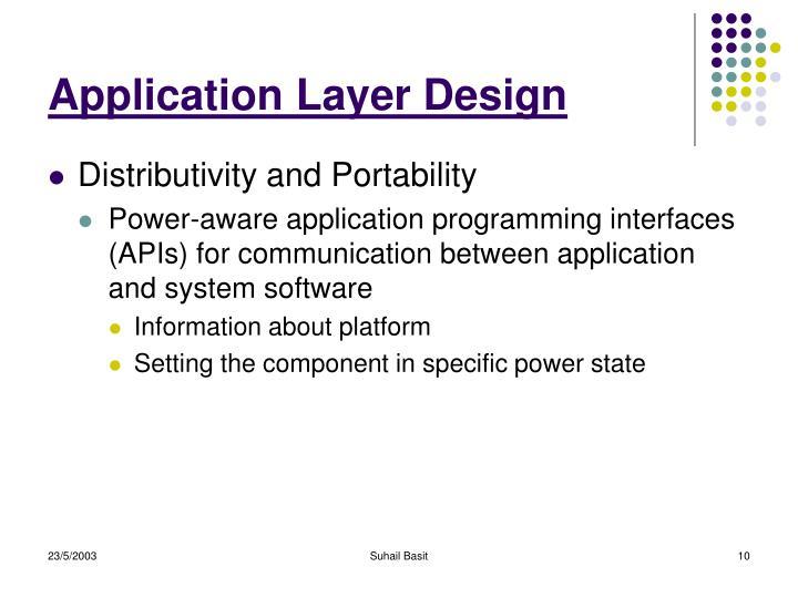 Application Layer Design