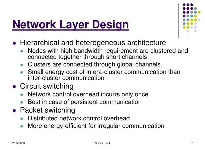Network Layer Design