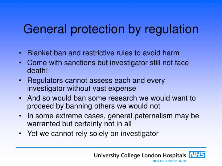 General protection by regulation