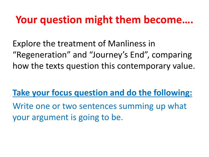 Your question might them become….