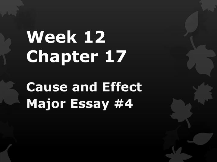 Week 12 chapter 17