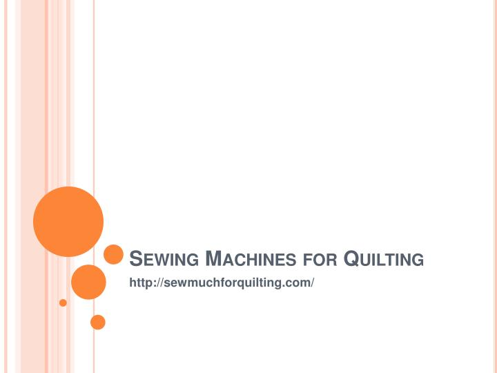 sewing machines for quilting n.