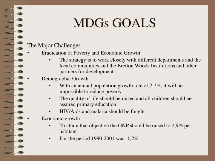 MDGs GOALS