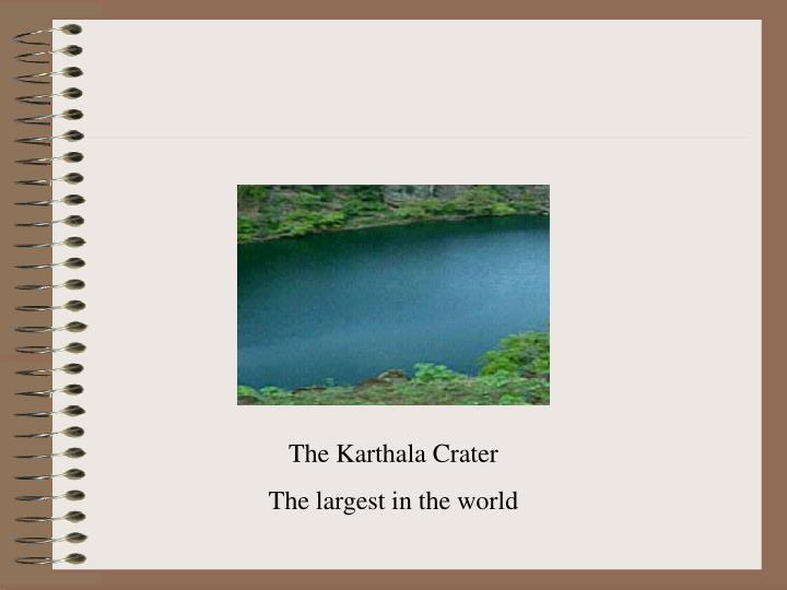 The Karthala Crater