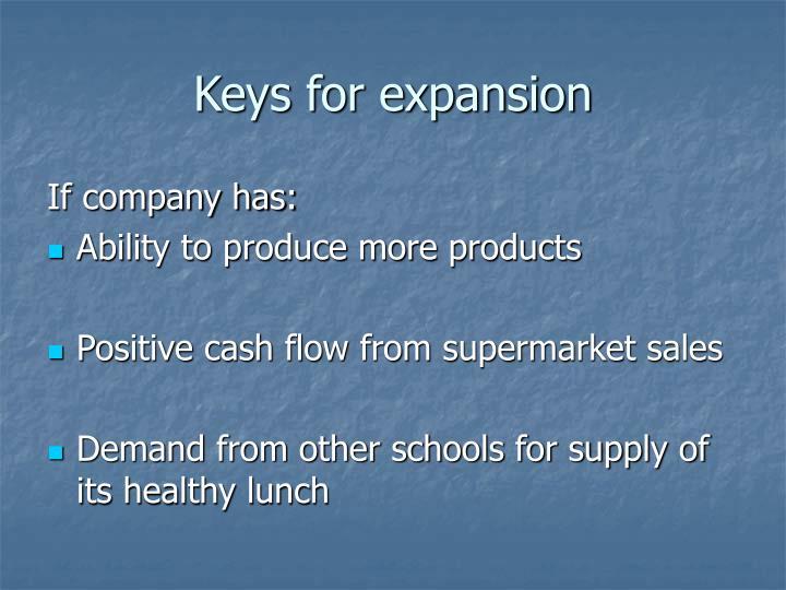 Keys for expansion