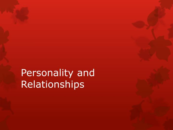 personality and relationships n.