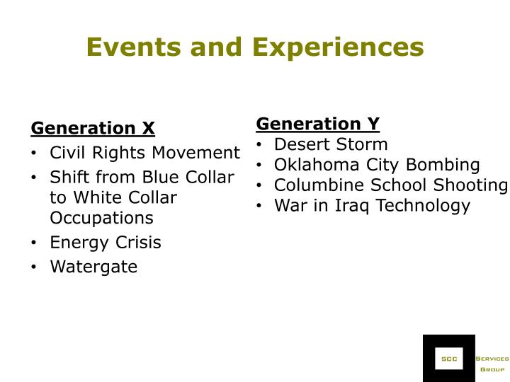 Events and Experiences