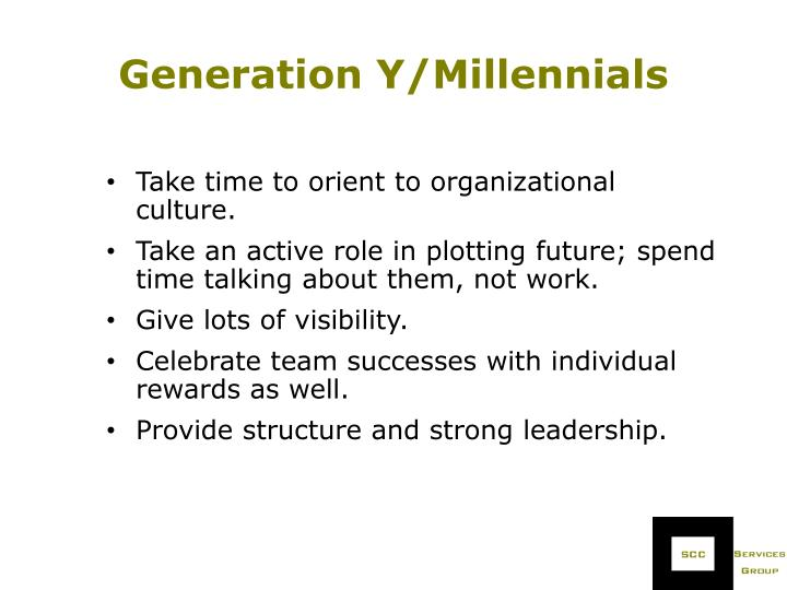 Generation Y/Millennials