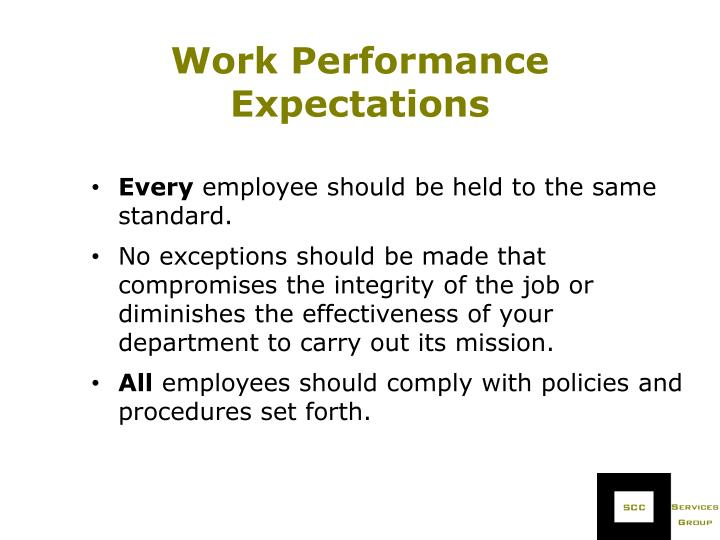 Work Performance Expectations