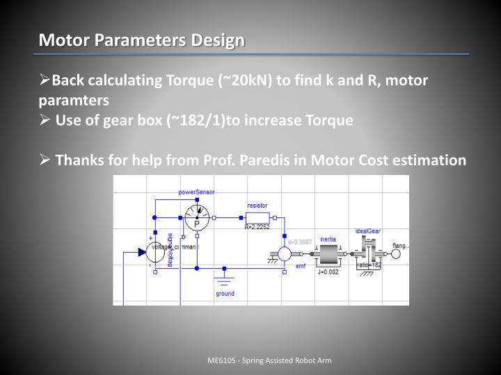 Motor Parameters Design