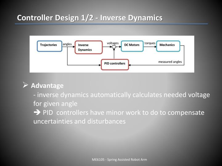 Controller Design 1/2 - Inverse Dynamics