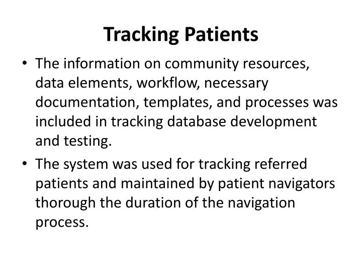 Tracking Patients