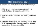 non executable pages