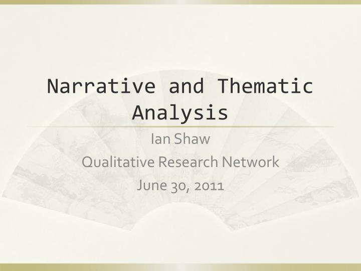 narrative and thematic analysis n.
