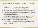 narrative structures labov
