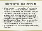 narratives and methods