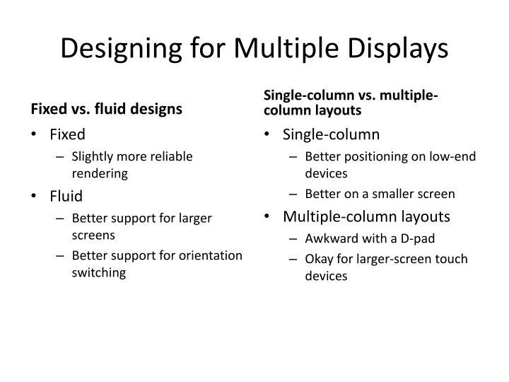 Designing for Multiple Displays