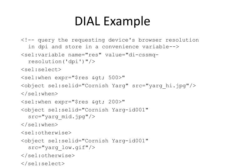 DIAL Example