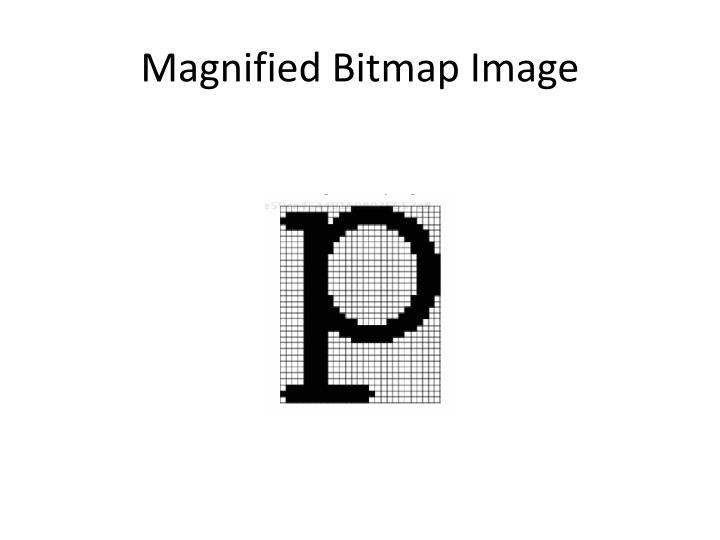 Magnified Bitmap Image