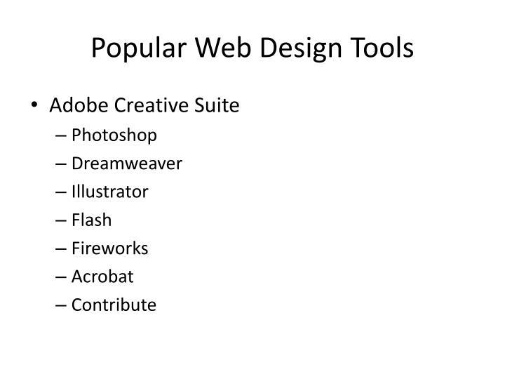 Popular Web Design Tools