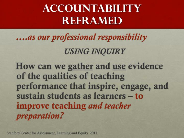 Accountability reframed