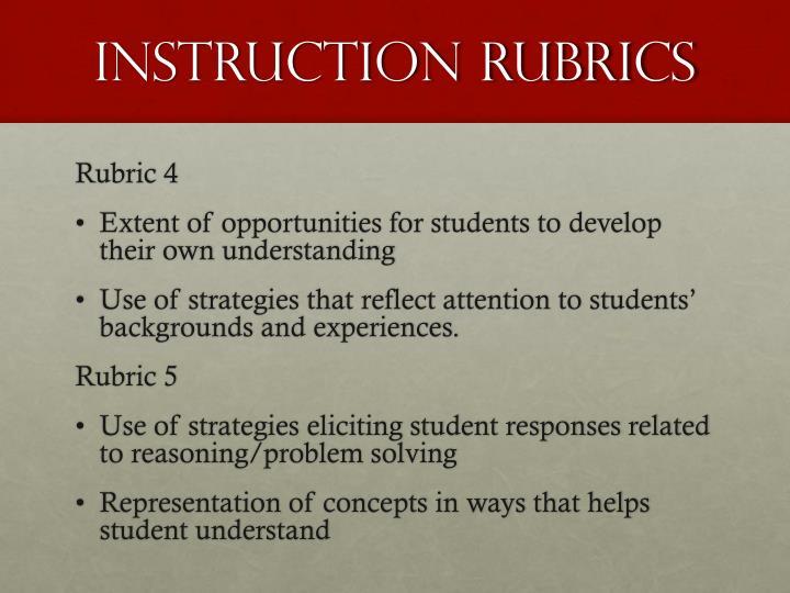 Instruction Rubrics