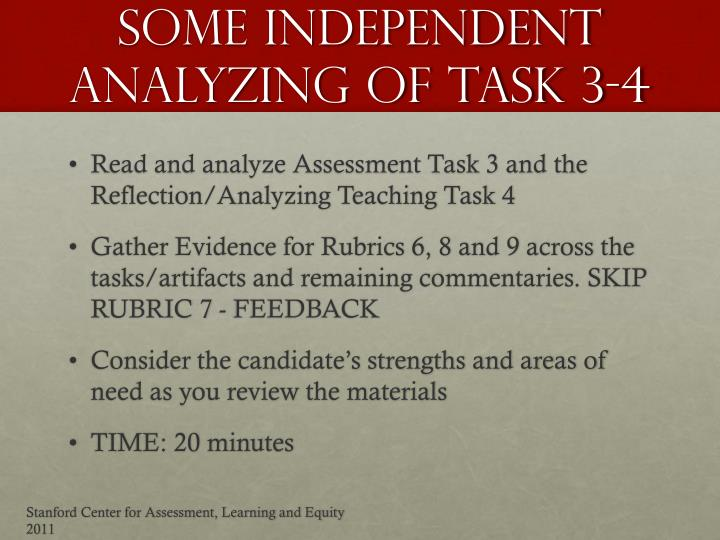Some Independent Analyzing of task 3-4