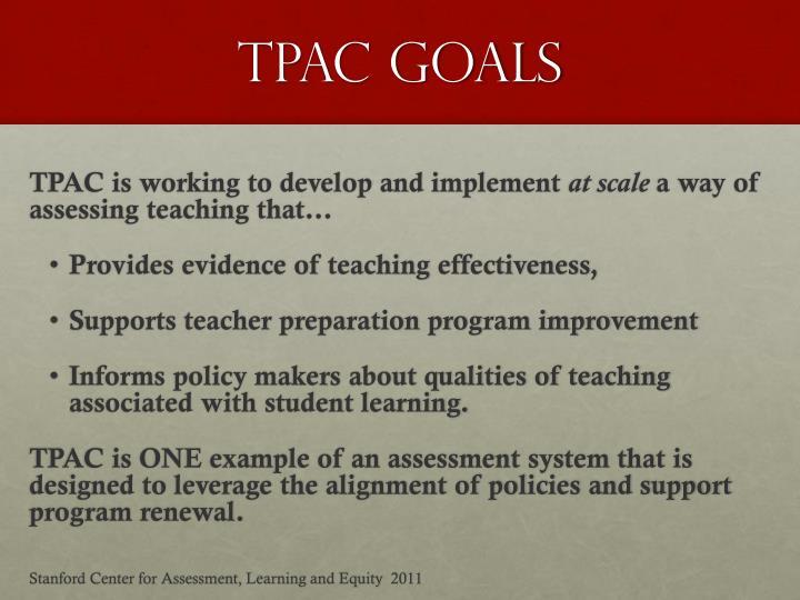 TPAC GOALS
