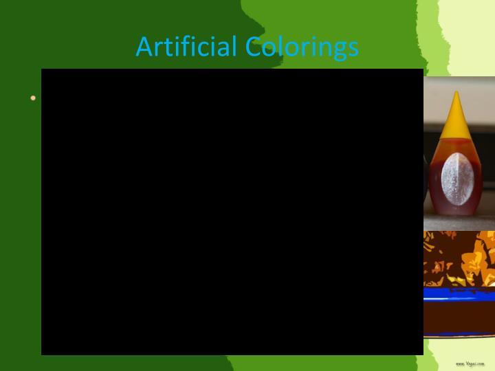 Artificial Colorings
