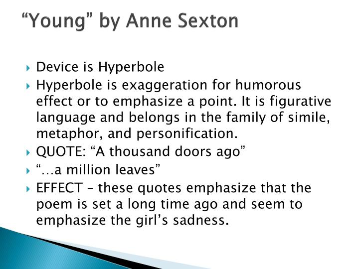 """""""Young"""" by Anne Sexton"""