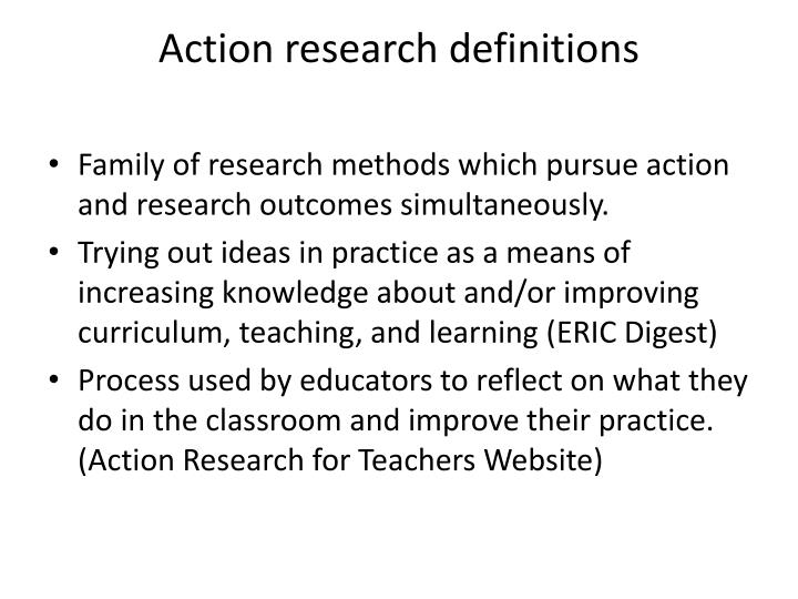 Action research definitions