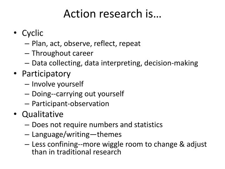 Action research is…