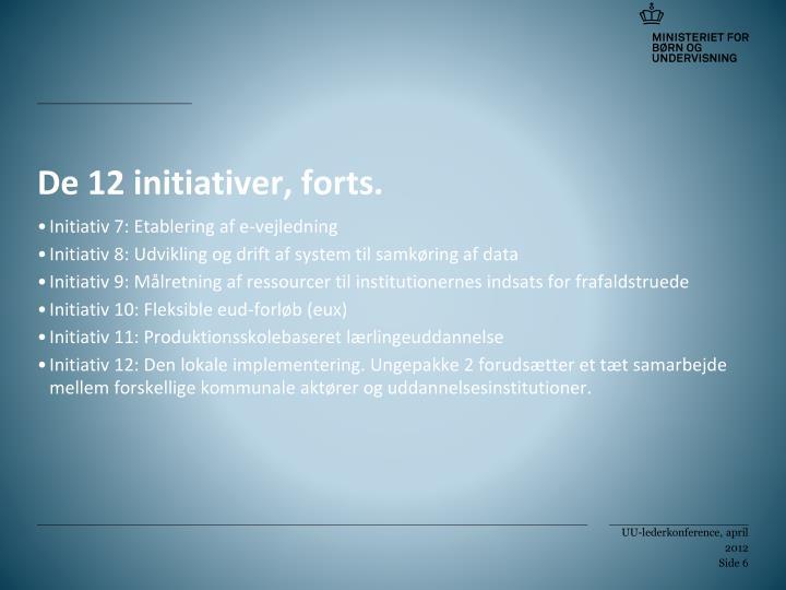 De 12 initiativer, forts.