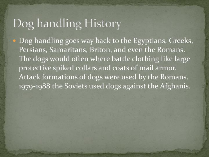 Dog handling history