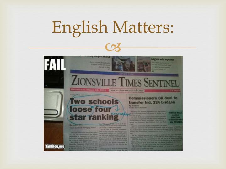 English matters1